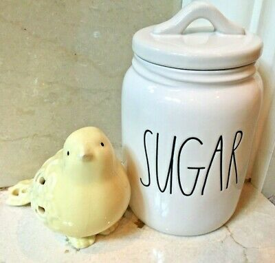 """RAE DUNN Artisan Collection LL """"SUGAR"""" 7"""" Small Baby Canister By Magenta - VHTF"""