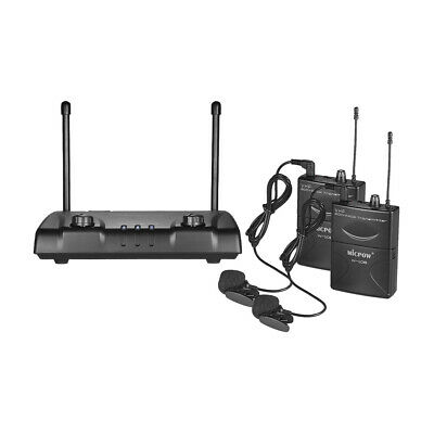 Professional VHF Dual Channel Wireless Microphone Mic System for Speech R3K4