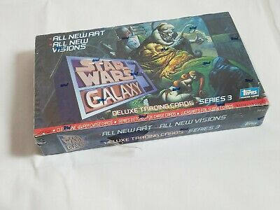 Star Wars Galaxy Series 3 Deluxe Topps  Booster Box 36 Packs New Sealed Cards