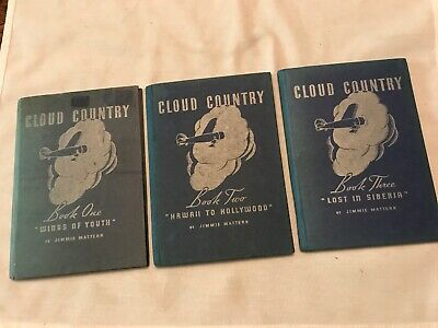 1936 PURE OIL Cloud Country, Aircraft 3 Book Set