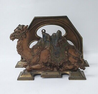 Antique Judd Cast Iron Camel Desk Letter Holder - Art Deco