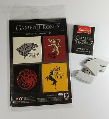 Game of Thrones 4G Stark USB and House Sigil Magnet Set Loot Crate