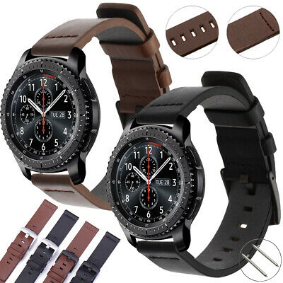 22mm 20mm 18mm Genuine Leather Band Quick Watch Strap Wristband Belt Black/Brown
