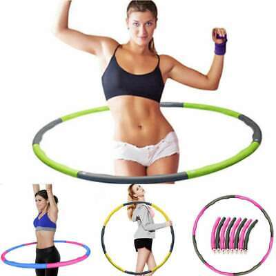 Collapsible 0.8-1Kg Weighted Hula Hoop Fitness Padded Exercise Gym Workout Hoola