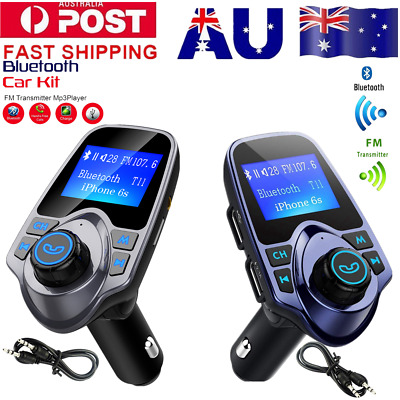 LCD Car MP3 FM Transmitter Wireless Bluetooth AUX Disk Charger USB Handsfree Kit