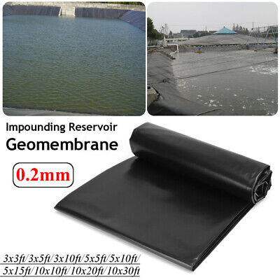 3-30ft  HDPE Heavy Duty Fish Pond Liner Pools Membrane Reinforced Landscaping