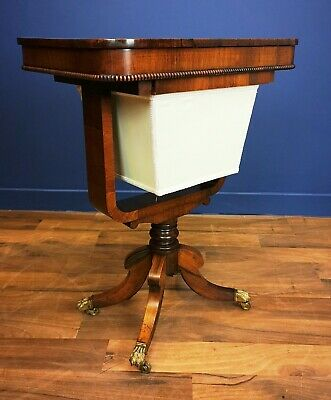 Antique / Regency Rosewood Sewing / Work Table Circa 1815