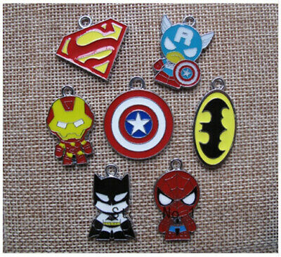 lot Avenger Batman Spider-Man mix Charm Pendants DIY Jewelry Making Accessories