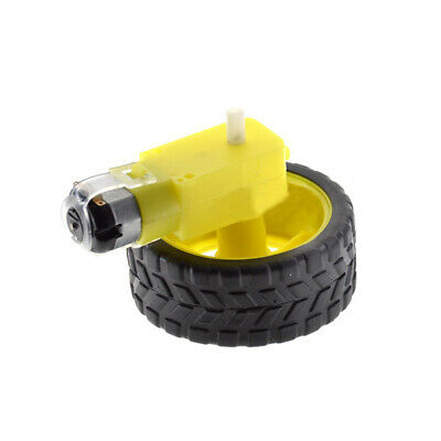 Smart Car Robot Plastic Tire Wheel Accessories DC 6V Robot Gear Motor Arduino UK