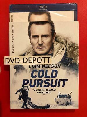 Cold Pursuit Blu-ray + DVD + Digital HD & Slipcover Brand New FAST Free Shipping