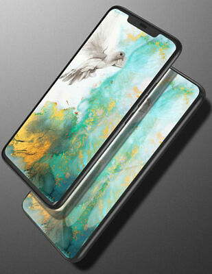 Marble Tempered Glass Phone Case Cover For Samsung Galaxy A6 Plus A7 A8 A9 2018