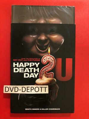HAPPY DEATH DAY 2U DVD & Slipcover **AUTHENTIC DVD READ** New FAST Free Shipping