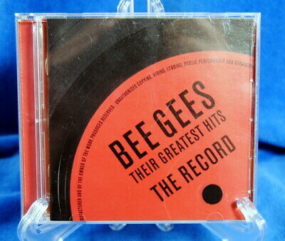 Bee Gees Their Greatest Hits The Record CD Two Disc 40 Song Compilation