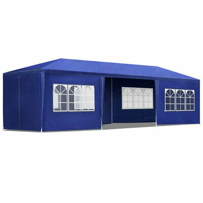 Instahut 3x9m Gazebo Tent Party Weddin Marquee Event Outdoor Campin Blue 6 Panel
