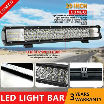 20INCH Philips LED Light Bar Dual Row Combo Beam Work Driving Offroad 4WD 23""
