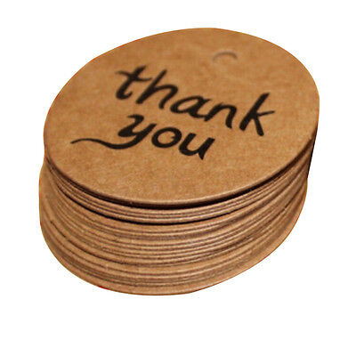 100X4cm Kraft Paper Hang Tags Wedding Party Favor Label thank you Gift Card YH