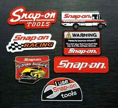 SNAP ON TOOLS CAR BADGE Embroidered Patch Iron Sew Logo BIKER RACING MOTORCYCLE