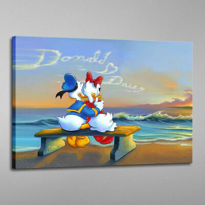 HD Print Disney Home Decor Painting Sunset Donald Duck on Canvas 16x24 Unframed