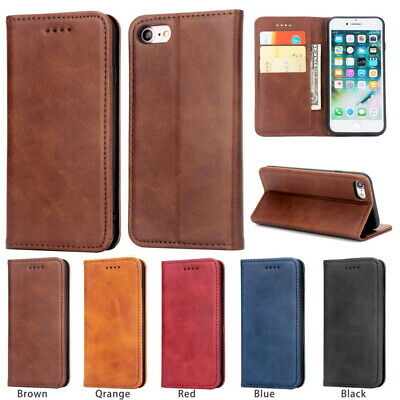 Genuine Leather Magnetic Flip Stand Case Cover For iPhone XS Max XR X 8 7 6 Plus