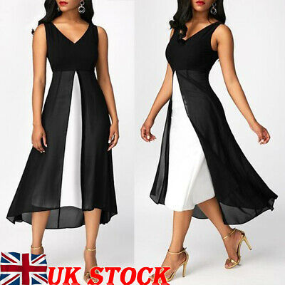 Plus Size UK 6-22 Women Holiday Long Tops Casual Ladies Summer Beach Party Dress