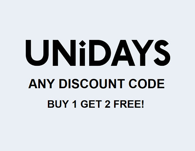 UNIDAYS digital student discount code (Special offer - buy 1 get 2 free!)