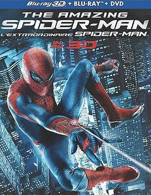The Amazing Spider-Man (Blu-ray/DVD, 2012, Canadian 3D 4 DISC) DISC IS MINT