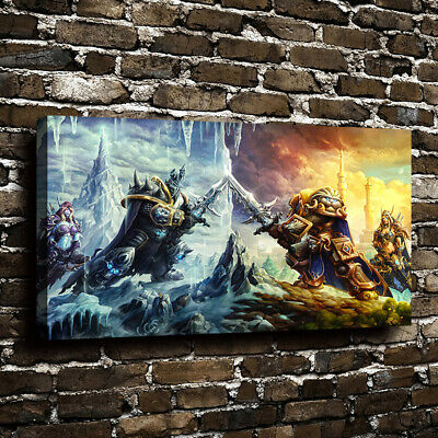 World of Warcraft Canvas Wall Art Oil Painting Picture Print Home Decor Unframed