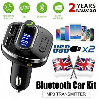 Cigarette Lighter Wireless Bluetooth FM Transmitter LCD MP3 Player and USB Port