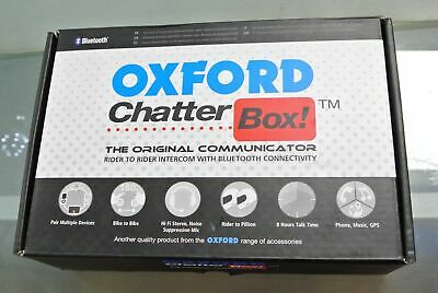 Oxford Chatterbox Bluetooth Intercom Set For Motorcycle Motorbike Helmet
