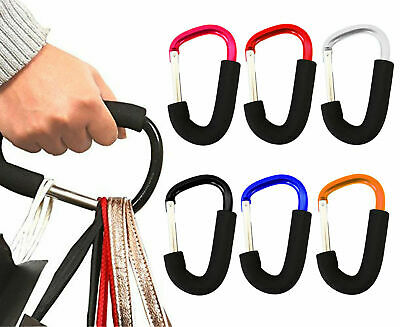 Buggy Clips Carry Clip Coloured Large Pushchair Pram Shopping Bag Hook Mummy