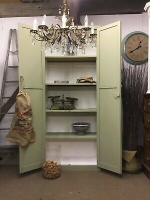 Large Vintage School Cupboard- Chateau Grey - Free Delivery!!