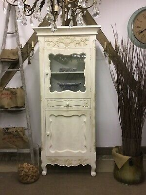 French Louis xv style Bathroom/ Linen cabinet - Antique White - Free Delivery!!
