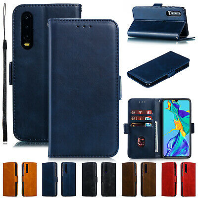 For Huawei P30 Pro P20 Lite Mate 20 Case Magnetic Flip Leather Card Holder Cover