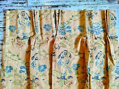 PAIR of 2 STUNNING VINTAGE lined Brocade embroidered Designer CURTAINS 113x75cm