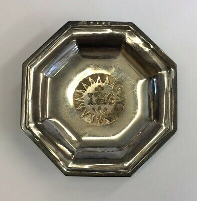 Antique 1859 George Unite Victorian Solid Silver Christening Dish/Plate IHS