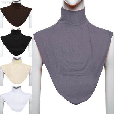 Womens Muslim Hijab Extension Neck Check Cover Islamic Shirt Under Underscarf
