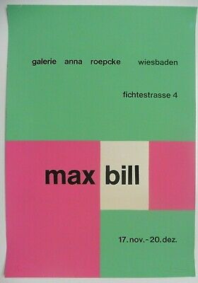 Max Bill signed and numbered original art poster print serigrafie