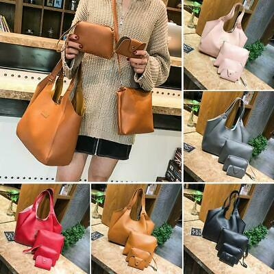 Women Casual Fashion Solid PU Leather Four-piece Shoulder Messenger Bag WT88 03