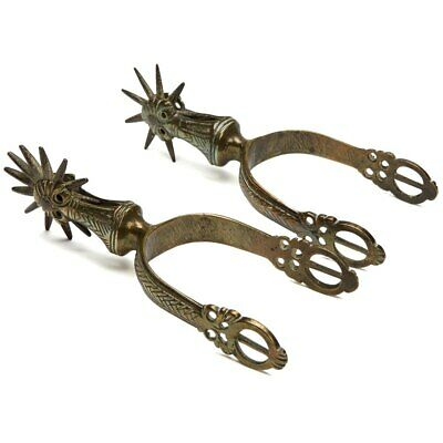 Pair Vintage/Antique Brass Riding Spurs Early 20Th C.