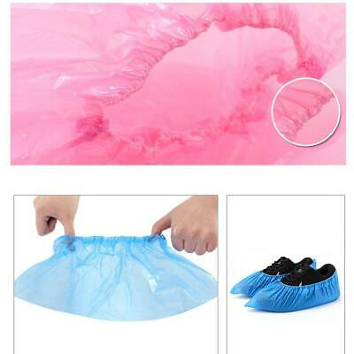 100Pcs Disposable Plastic Shoe Covers Waterproof Boot Covers WT88 01