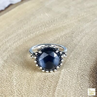c17ed5a06 PANDORA STERLING SILVER 925 Thick Ring W/ Round Lapis?Or Blue Stone ...