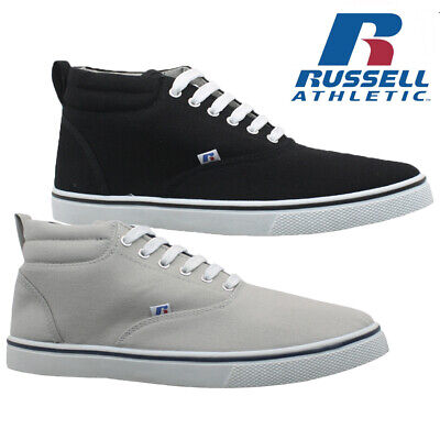 Mens Russell Athletic Trainers Casual Canvas Mid Hi Pumps Shoes Plimsolls Size