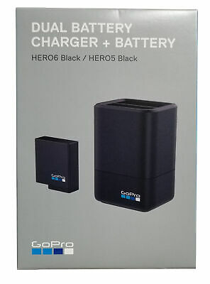 GoPro Dual Battery Charger with Battery for HERO5 & HERO6 & HERO7 Blac AADBD-001