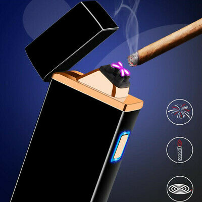 Dual Arc Electronic Cigarette Lighter USB Metal Rechargeable Windproof lighters