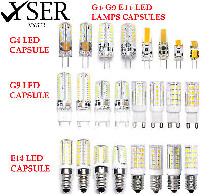 LED Light Capsule  G4 G9 E14 Bulbs Replacement Halogen Lamp Energy Saving AC/DC