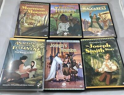 6 DVD Animated Stories From Bible FHE NEST LDS Sunday School BOm Heroes NT Lot