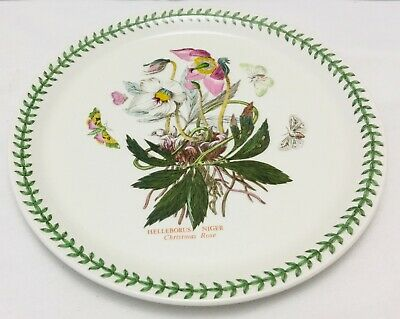 Portmeirion Botanic Garden - Christmas Rose oven dinner pizza hot plate 26cm