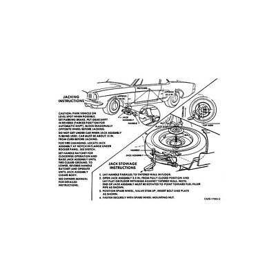 Ford Mustang Decal - Jack Instruction 44-47014-1