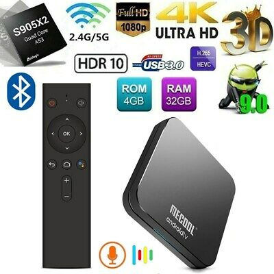 MECOOL KM9 Pro TV Box Android9.0 Amlogic S905X2 4GB RAM Wifi Control Vocale P8O7