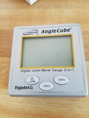 iGaging Angle Cube Digital Protractor Gauge Magnetic Angle & Level Sensor Bevel